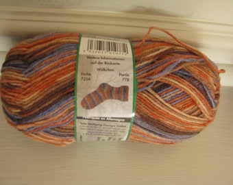 Ba11 Opal Sock Yarn 9531 Safari Tanzania 75/% wool 25 nylon 100 grams 462 yards superwash fingering