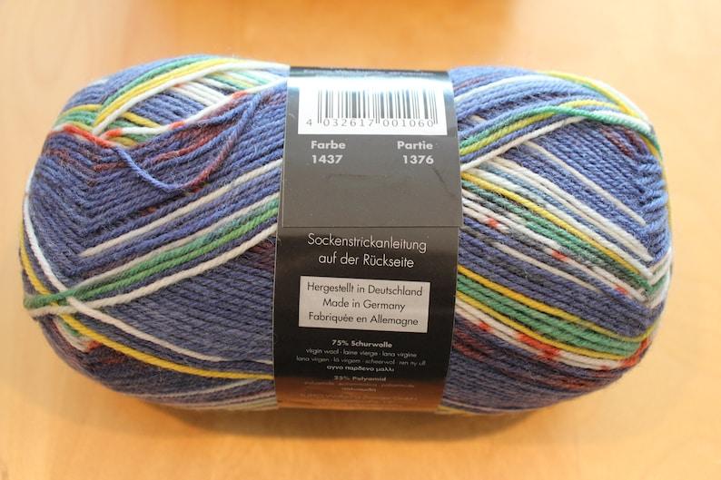 Opal Sock Yarn #1 Hundertwasser 150  1437 Ultra Marine 75/% wool 25 nylon 100 grams 462 yards superwash fingering