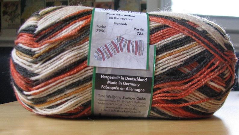 Opal Schafpate 7950 Hannah reprint of Rainforest Regenwald Tiger 75/% wool 25 nylon 100 grams 462 yards superwash fingering D1A