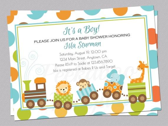 Jungle baby shower invitation train baby shower invite boy etsy image 0 filmwisefo