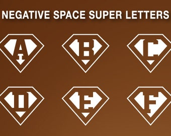 Superman letters - negative space