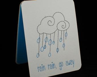 Rain Rain, Go Away - Get Well Card