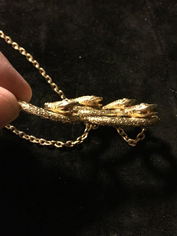 Vtg, Coro necklace  Coro snake necklace, gold sna… - image 6