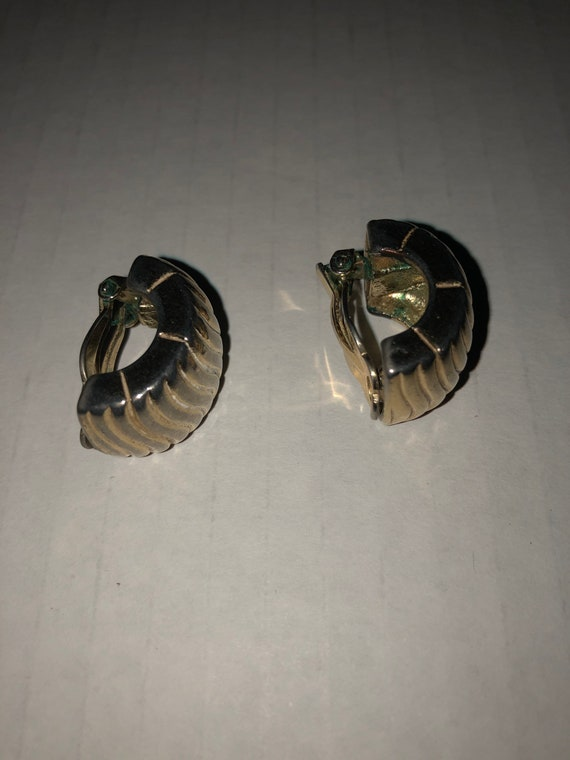 Vtg Givenchy clip on earrings, textured earrings,… - image 6