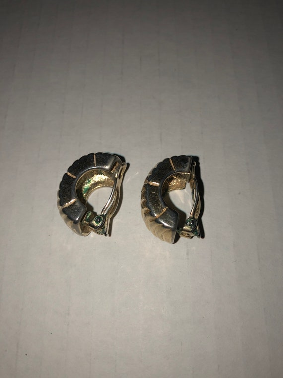 Vtg Givenchy clip on earrings, textured earrings,… - image 2