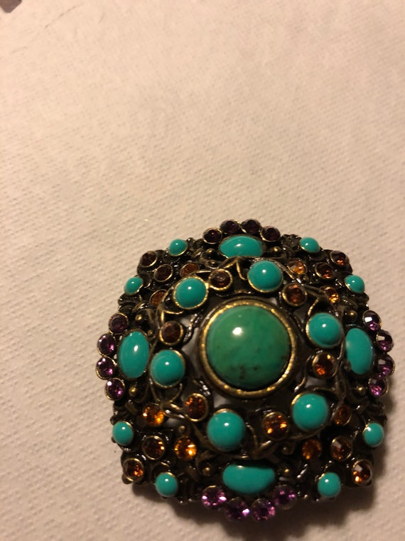 Vtg pin, Joan Rivers ,colorful brooch, joan rivers