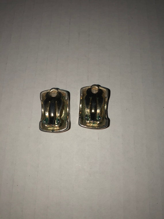 Vtg Givenchy clip on earrings, textured earrings,… - image 5