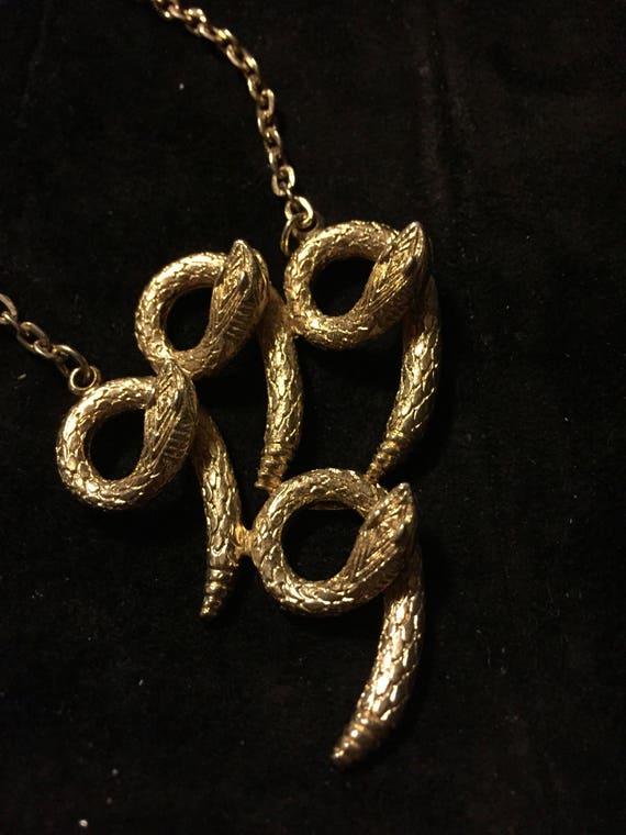 Vtg, Coro necklace  Coro snake necklace, gold sna… - image 5