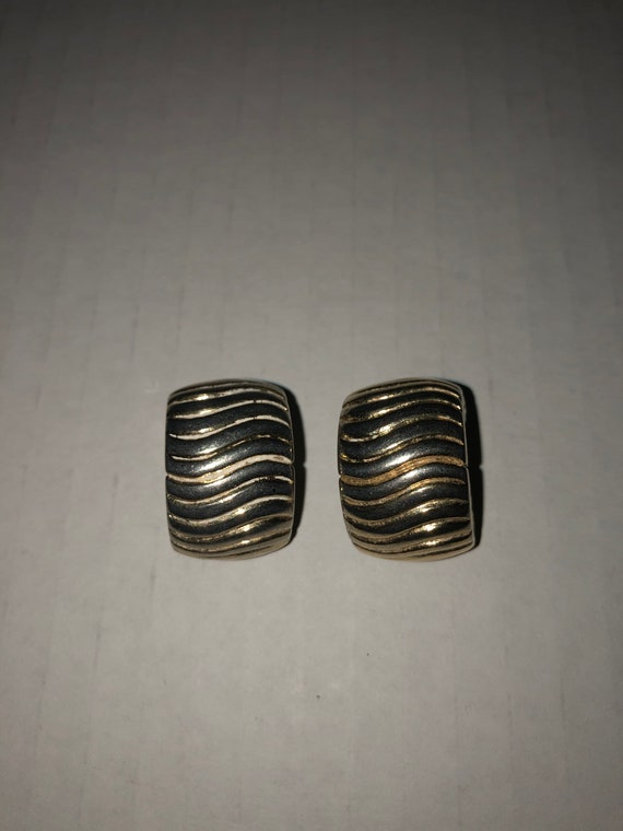 Vtg Givenchy clip on earrings, textured earrings,… - image 1