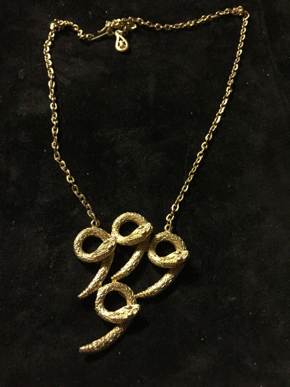 Vtg, Coro necklace  Coro snake necklace, gold snak