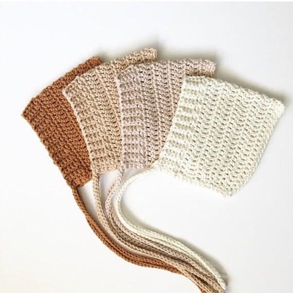 Cotton Ribbed Pixie Bonnet    crochet bonnet cotton bonnet  e8e7f45cad7