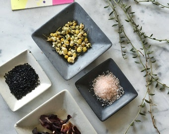 Natural Small Square Catchall Dish
