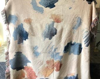 Palette Swatch- Woven Art Throw Blanket- Original design- Made in USA