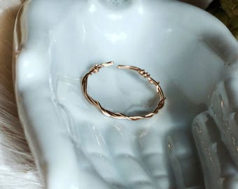 14k Gold Filled Adjustable Ring, Twisted + Layered options