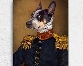 Military Pet Portrait, Pet Portrait, Pet Painting, Custom Pet Portrait, Custom Dog Portrait, Dog Art, Dog, Dog Painting, Pet, portrait