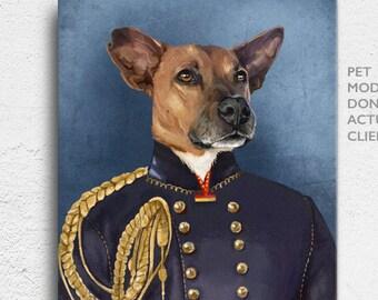 Pet Portrait, custom Pet Portrait, soldier pet, Royal Pet Portrait, Custom Pet Portraits, pet portraits, Regal Pet Portrait