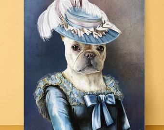1401f61258b77 Queen Pet Portrait Custom Pet Portrait Pet portraits Royal