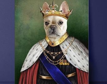 King Pet Portrait, Royal Pet Portrait, Pet Portrait, Custom Pet Portrait, regal pet portrait, funny pet portrait, dog, cat, pet, portrait