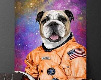 Orange Astronaut, Pet Portrait, Custom Pet Portrait, Astronaut Pet, Custom Pet, Funny Pet Portrait, Pet Portrait Custom, dogecoin, NASA