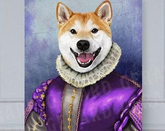 New Royal Pet Portrait, Custom Pet Portrait, pet portrait, Regal pet portrait, royal Pet Portrait, dog, pet, funny pet, king pet portrait