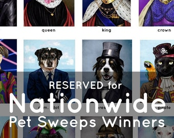 RESERVED for Nationwide Pet Sweeps Winners