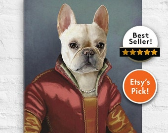 Royal Pet Portrait, Custom Pet Portrait, pet portrait, Regal pet portrait, Renaissance Pet Portrait, dog, pet, portrait, king pet portrait