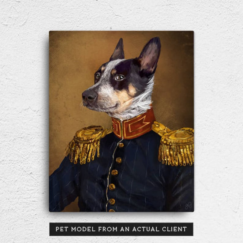 Custom Pet Portrait Pet portraits regal pet portrait Regal image 0
