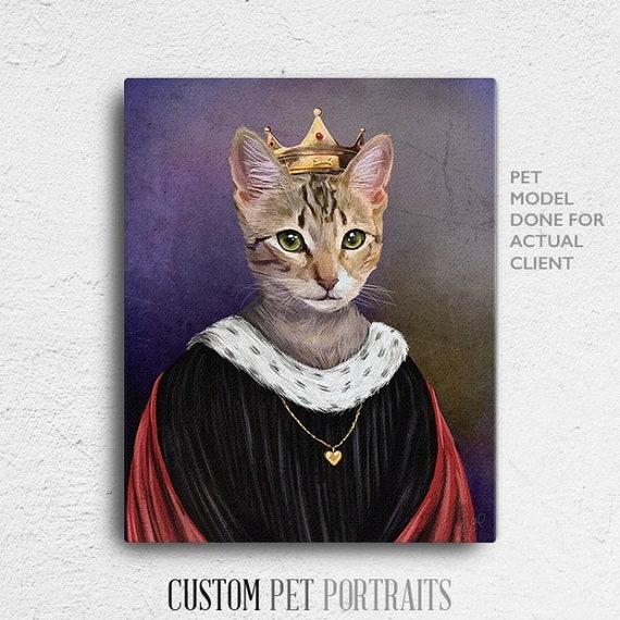 Regal Pet Royal Pet Portrait Personalized gift funny gifts Queen Pet Portrait Regal pet portraits unique gifts Pet portrait