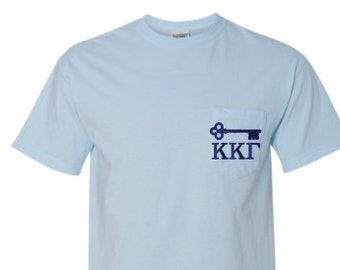 31ef46b9cd4e Items similar to Kappa Kappa Gamma Comfort Colors Pocket T-shirt ...