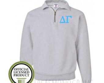 monogram sweatshirt, monogram fleece, Sorority sweatshirt, Quarter Zip, Sorority Big Little shirt, monogram half zip fleece,