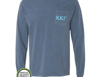 f986cad568ae Kappa Kappa Gamma Comfort Colors LONG Sleeve Pocket Tee