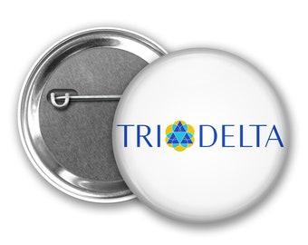 2bd70a58 Delta Delta Delta Pin Back Button, Pin Back, Greek Button, Sorority gift,  Big Little Gift, Delta Delta Delta Gift, Tri Delt Logo Crest