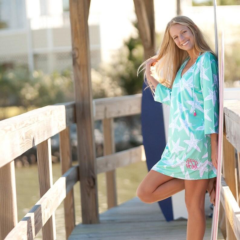 Monogram Beach Cover up Tunic Monogram Swimsuit Tunic Monogram Cover Up Beach Dress Personalized Tunic