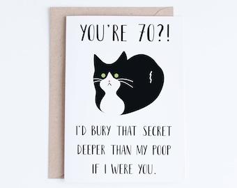 40th Birthday Card Printable Birthday Card Funny Cat