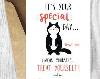 magnet anniversary card kitten card Cat Magnet Card kawaii cat cute birthday card cat card cat lover Mother/'s Day magnet card gift