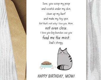 photo regarding Printable Birthday Cards for Mom Funny identified as Printable mother card Etsy