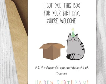 photograph relating to Free Printable Cat Birthday Cards named Birthday cat Etsy