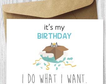 Happy Birthday Cat Digital Card Funny