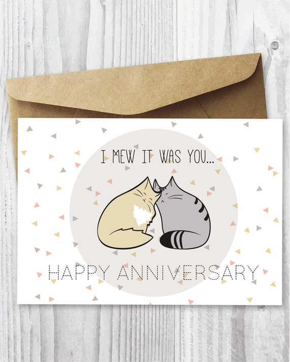 Anniversary Card Printable Anniversary Card Romantic