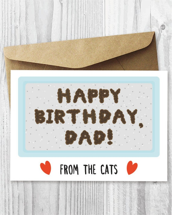 Funny Printable Birthday Card From The Cats Birthday Card For Etsy