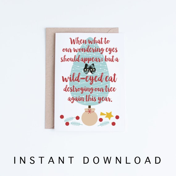Pet holiday card printable holiday greeting cards funny etsy image 0 m4hsunfo
