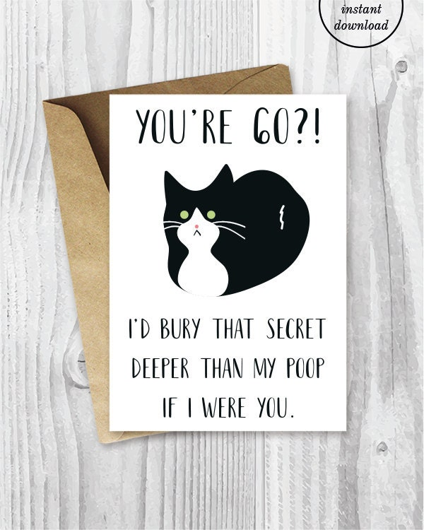 60th Birthday Card Funny Getting Old Turning 60 Videos For A Her Printable Cards Tuxedo Cat