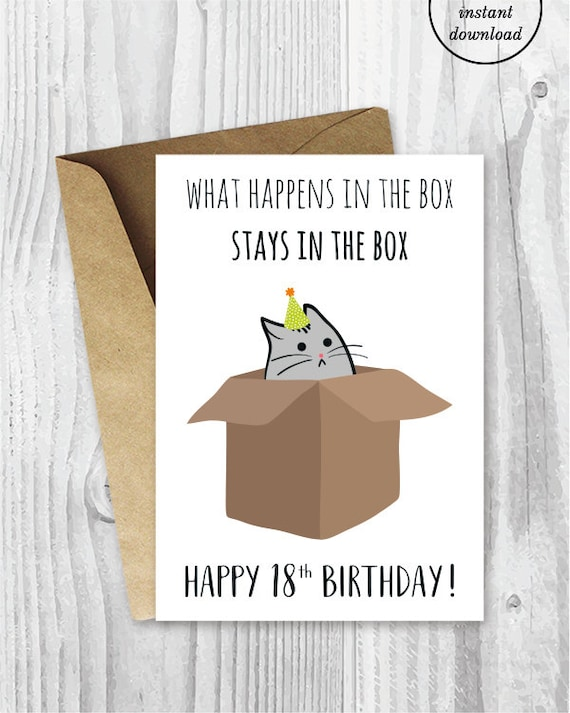 18th Birthday Printable Cards Funny 18th Birthday Cards Etsy