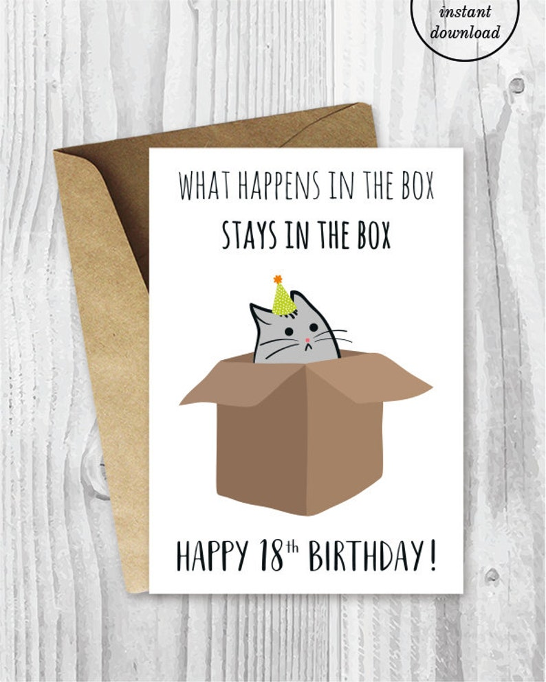 18th Birthday Printable Cards Funny
