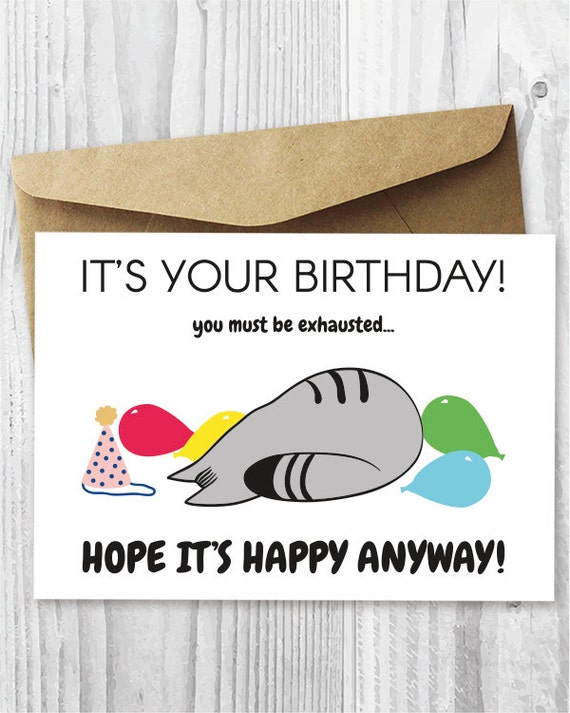 Introvert Birthday Cards Printable Funny Cat