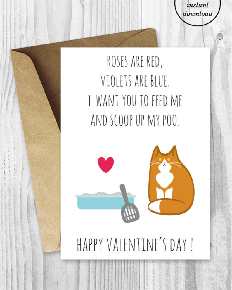 photo relating to Funny Valentines Day Cards Printable known as Humorous Valentine Card Printable, Amusing Orange and White Cat Valentines Working day Card, Ginger Cat Valentine Playing cards, Valentine Card in opposition to the Cat