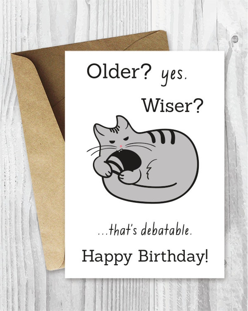 photo relating to Funny Printable Cards titled Joyful Birthday Playing cards, Amusing Printable Birthday Playing cards, Humorous Cat Birthday Card Electronic Obtain, Birthday for Him, Birthday for Her, Cat Supporters