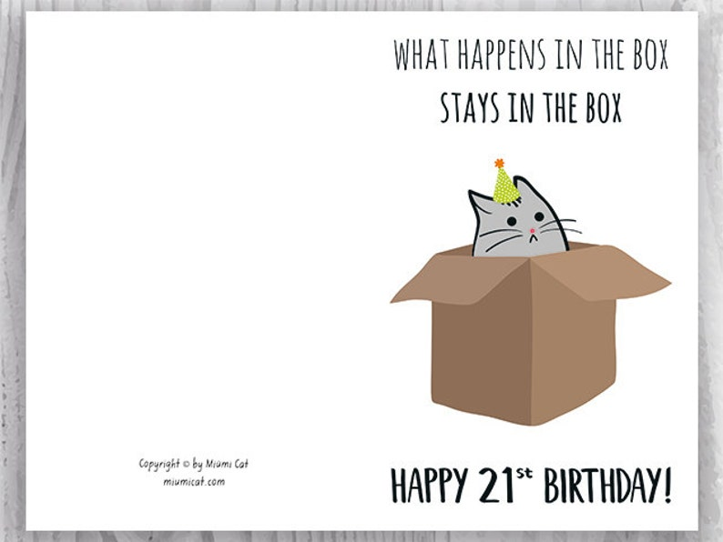 photo relating to 21st Birthday Cards Printable identified as 21st Birthday Printable Playing cards, Humorous 21st Birthday Playing cards, Amusing Cat Birthday Card, Printable Cat Playing cards, Quick Down load, 21 Birthday