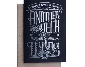 BITTERSWEET BIRTHDAY Greeting Card