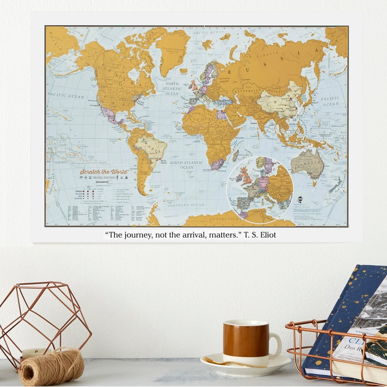 Personalised Scratch the World® travel edition map print  image 0